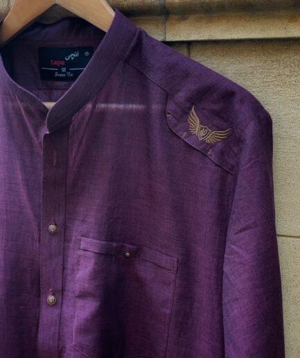 Purple Karandi Kurta Trouser