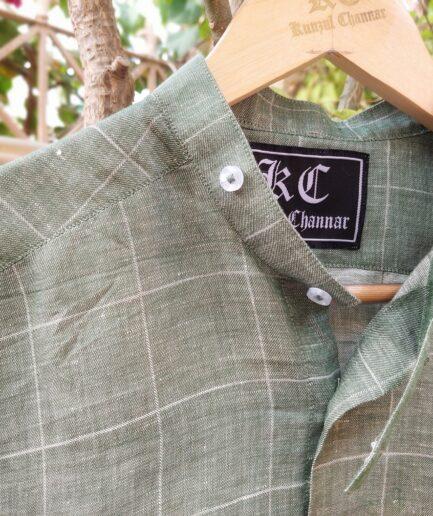 Biker's Collar Linen Shirt